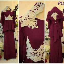 Rayon Spandex Dress (Maroon)